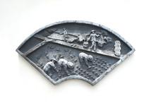 雕塑水稻插秧图