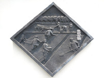 雕塑水稻育苗图