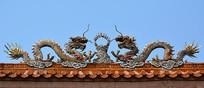 房顶双龙瓷雕