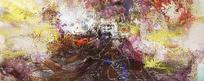 复古色调抽象油画