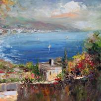地中海风景装饰画