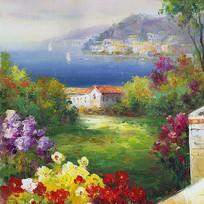 欧式地中海风景画