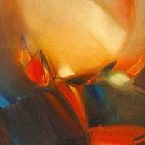 现代简约风格暖色抽象画