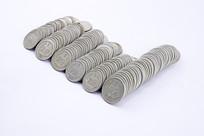 分币硬币特写