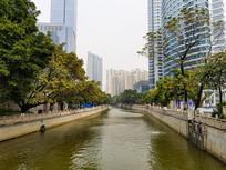 广州猎德河涌美景
