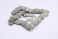 收藏的老式硬币