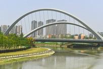 成都江滩公园-桐锦南桥