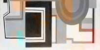 几何色块现代抽象画