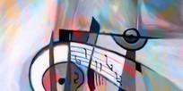 音乐符号抽象装饰画