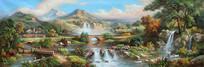 河流瀑布装饰画