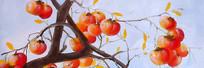柿子装饰画