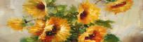 向日葵花卉油画