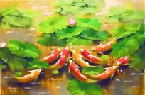 九鱼图装饰画