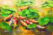 九鱼中式装饰画