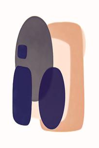 现代轻奢线条抽象画