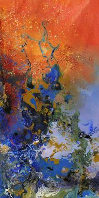 竖版抽象壁画