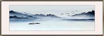 水墨山水壁画