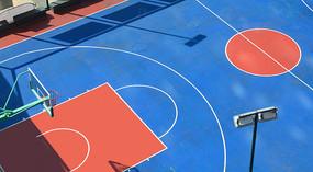 篮球场及运动设施俯拍