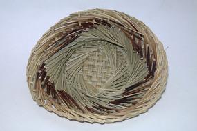 手工编织竹木蒸笼草垫