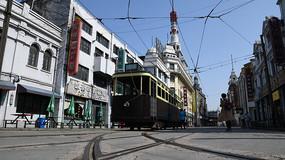 老上海有軌電車街景