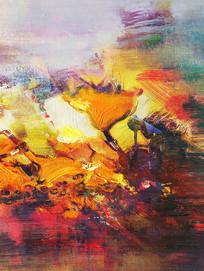 竖版抽象油画