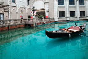 威尼斯小鎮貢多拉船