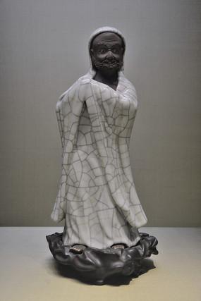清代哥窯達摩像