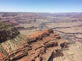 美國科羅拉多大峽谷紅色巖石