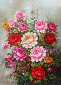 花开富贵牡丹花装饰画