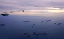 航拍韩国西海岸掘业岛及蔚岛