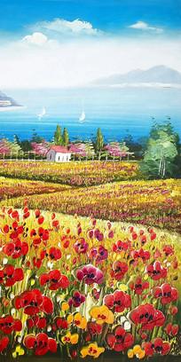 阿玛尔菲地中海油画
