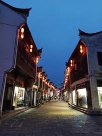 古镇夜景街道
