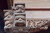 尼泊尔馆神庙木雕艺术