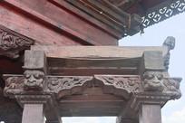 尼泊尔馆神庙木雕装饰