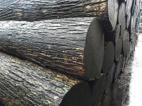 木材堆场原木
