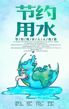 节约用水公益海报