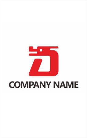 d字母开头logo