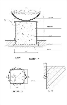花坛花钵CAD