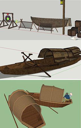 文化雕塑3D模型