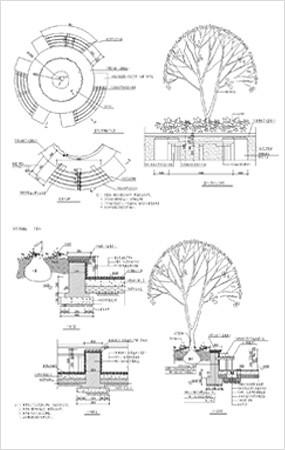 圆形树池CAD