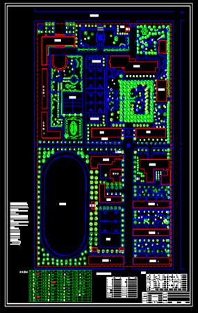 校园绿化配置图