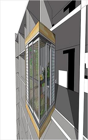 露台阳台SU模型