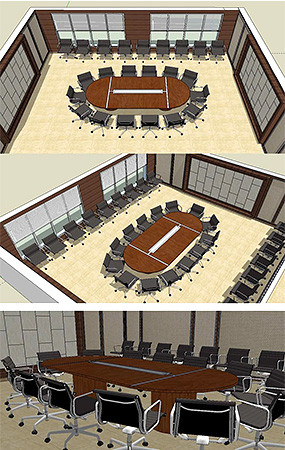 会议室SU模型