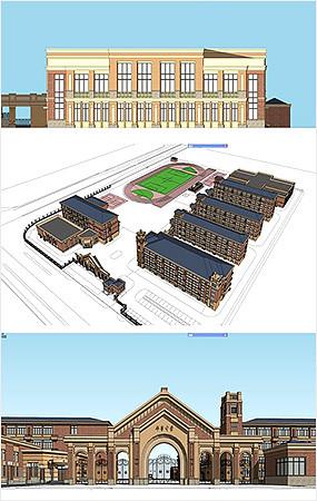 中学建筑模型