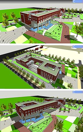 大学建筑模型