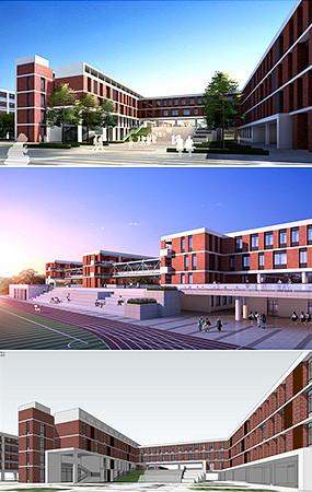 高中校园建筑模型