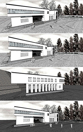 中式别墅建筑SU模型