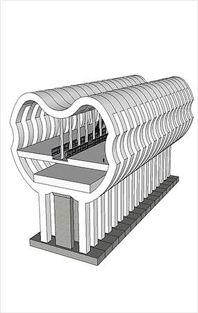 地铁、轻轨站模型