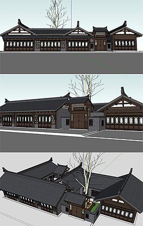 川西民居建筑模型