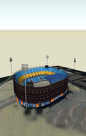 排球馆模型